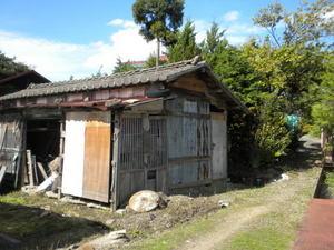キイロスズメバチの巣があった納屋(郡山市、2010年9下旬).jpg