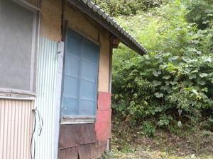 キイロスズメバチの巣が軒下に(福島県田村市、2010年9月中旬).jpg