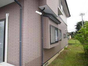 スズメバチの巣が軒下に 福島県大沼郡、2011年.jpg