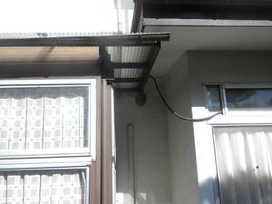 スズメバチの巣が1階の軒下に 福島市、11月下旬.jpg