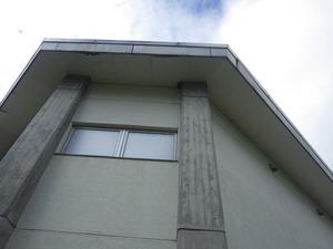 会津坂下町で体育館の高所のスズメバチの巣駆除現場.jpg