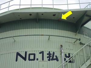 巨大なタンクに作ったキイロスズメバチの引っ越し巣(福島県).jpg