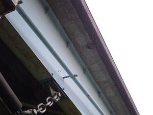 遊歩道の橋の下にあるスズメバチの巣を撤去した後の様子(二本松市).jpg