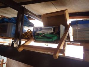 郡山市で棚の上の段ボール箱の中にスズメバチの巣.jpg