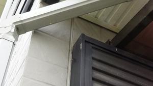 アシナガバチの女王蜂が作り始めた巣がある窓枠(郡山市).jpg