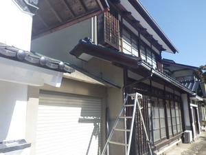 スズメバチが巣を作った軒裏天井を中心に飛び回る (田村市).jpg