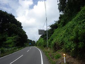 スズメバチの巣がある道路標識(福島県三春町).jpg
