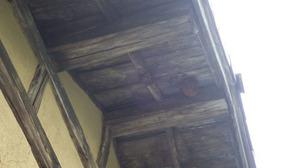 田村市で軒下にスズメバチの引っ越し巣.jpg