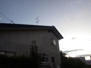 高い軒下に大きなキイロスズメバチの巣(福島県中島村).jpg